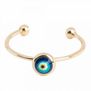 Verstellbarer Ring Böser Blick (5 mm)