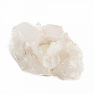 Teelichthalter Edelstein-Bergkristall-Cluster (ca. 1000 Gramm)