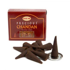 HEM Räucherkegel Precious Chandan (1 Packung)