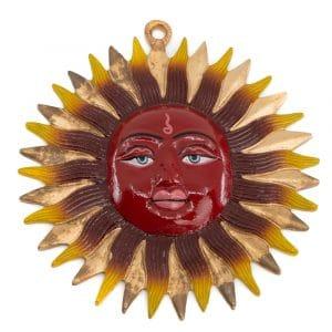Dekorativer Anhänger Handgemalte Sonne (18 cm)