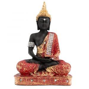 Meditierender Buddha bemalt (23 cm)