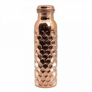 Spiru Kupfer-Wasserflasche Honig-Wabenmuster - 900 ml