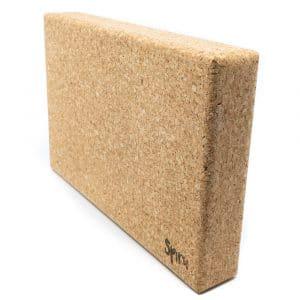 Spiru Yoga Block Eco Kork Rechteck Groß - 30 x 5 x 20 cm
