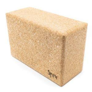 Spiru Yoga Block Eco Kork Rechteck Groß - 22,7 x 15 x 10 cm